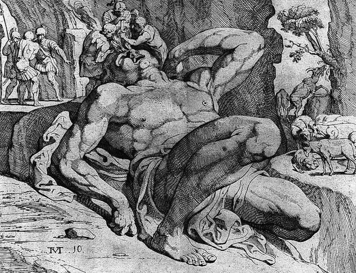 tableau ulysse et le cyclope